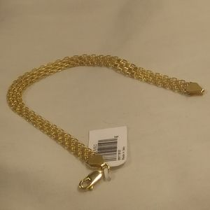10k Italy Solid Gold Bizmark Bracelet